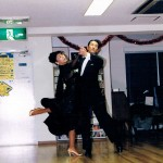 スターダンススクールの教室にて、初めてのクリスマス・パーティー'99年