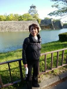 近所の大阪城公園を散歩中